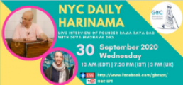 NYC Daily Harinama with Founder Rama Raya Das
