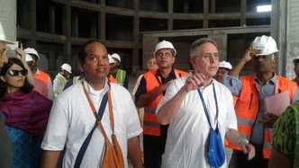 TOVP Chairman His Grace Ambarisa Prabhu Gets a Tour of the Pujari Floor