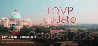 TOVP Update – October, 2019