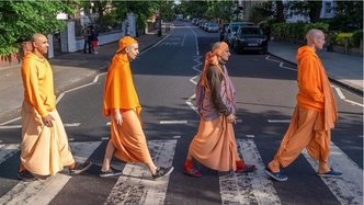 ISKCON UK Recreates Abbey Road Album Cover to Celebrate 50th