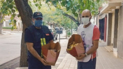 Argentina: Prasadam Distribution to Police Officers