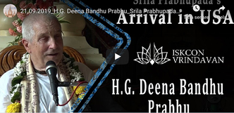 Srila Prabhupada's Arrival in the USA (video)