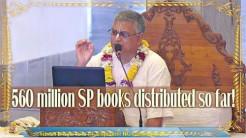 VIDEO – 560 million Srila Prabhupada's books have been distributed so far since 1965