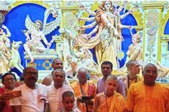 Devotees Inaugurate West Bengal Festivities