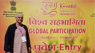 ISKCON Communications Devotee Meets Prime Minister of India at Prayagraj 2019 Kumbha Mela Global Participation