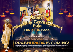 Happy Diwali and Govardhana Puja from the TOVP