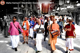 VIDEO - Maha Harinam – Stockholm Sweden – 27 July 2019