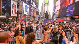 Historic Times Square Kirtan Brings Holy Name to the Masses