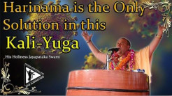 VIDEO - Harinama is the Only Solution in this Kali-yuga (7 min. video)
