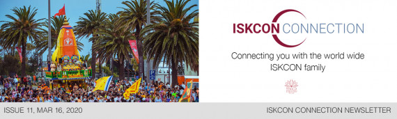 ISKCON Connection Newsletter, Issue 11, March 16, 2020