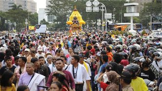 Governor of Jakarta Attends Rathayatra in Indonesian Capital