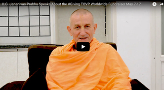 His Grace Jananivas Prabhu Speaks About the #Giving TOVP Worldwide Matching Fundraiser, May 7 – 17, 2019