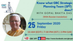 Know what GBC SPT does-with Gopal Bhatta Das
