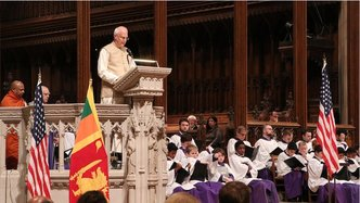 ISKCON Leader Offers Prayers at National Memorial Service for Sri Lanka Terrorist Attacks