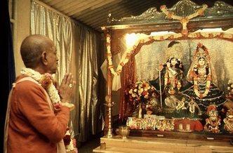 Showing Radharani's Lotus Feet Position Paper – ISKCON Deity Worship Ministry