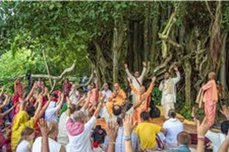 Kartik Navadwip Mandal Parikrama organized by the Mayapur Chandras is a small and intimate gathering of devotees travelling to various holy places hearing and chanting about the glories of Sri ...
