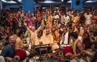 Devotees from 60+ Countries Chant Together in the Birthplace of Sankirtana