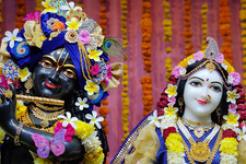 Radha-Krishna Deity Installation in Metpally, Telangana