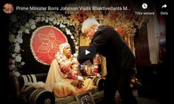 VIDEO - UK Prime Minister Boris Johnson Visits Bhaktivedanta Manor December 2019