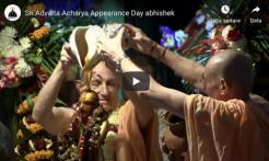 VIDEO – Sri Advaita Acharya Appearance Day Abhishek, Mayapur