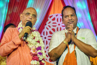 Lord Nityananda Visits Bangladesh for the First Time on a Historic TOVP Tour