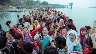 Visitors from East and Southeast Asia Initiated in Mayapur