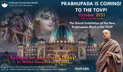 Prabhupada is Coming! Get Ready!