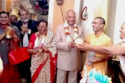 Indian President Visits ISKCON Temple in Manila, Philippines