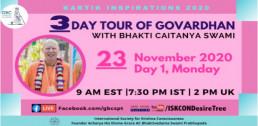 Day 1-Govardhan Parikrama with Bhakti Caitanya Swami