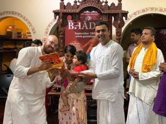 Team Iskcon Silicon Valley distributed a total of 284 Bhagavatam sets on Bhadra Purnima!
