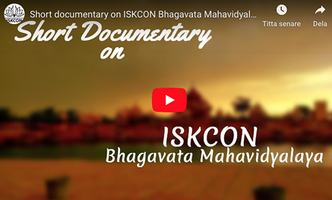 VIDEO - ISKCON Bhagavata Mahavidyalaya, Vrindavan