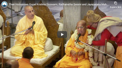 Their Holinesses Gopal Krishna Goswami, Radhanatha Swami and Jayapataka Maharaj Speak About the TOVP