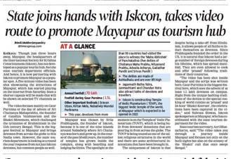 The Times of India Promotes Sridhama Mayapur