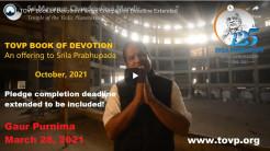 TOVP Book of Devotion Pledge Completion Deadline Extended
