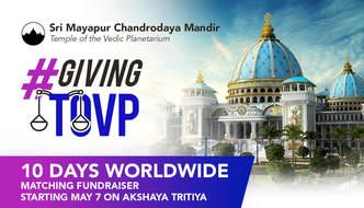 Akshaya Tritiya, Nrsimha Caturdasi, and the TOVP