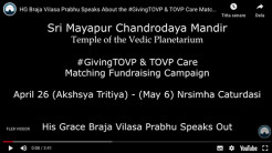 The #GivingTOVP & TOVP Care Campaign