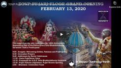 TOVP Pujari Floor Grand Opening Preview Video with Braja Vilasa Prabhu