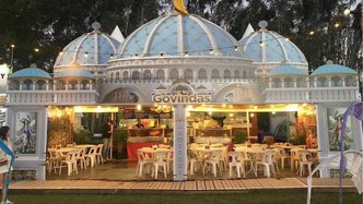 TOVP Theme Used for New Govardhana Prasadam Booth