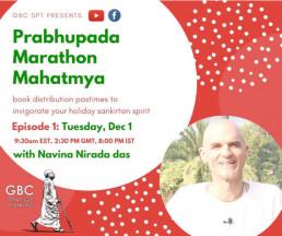 Prabhupada Marathon Mahatamya with Navina Nirada Das