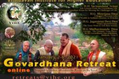 Registrations Open for Online VIHE Govardhana Retreat 2021